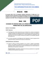 RAC  100 - Unidades de medida para las operaciones aéreas y terrestres de las aeronaves.pdf