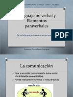 Lenguaje No Verbal y Elementos Paraverbales