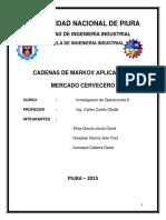 Cadena De Markov Aplicado Al Mercado Cervecero Peruano.