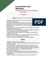 Medidas de Prevención Ante Desastres Naturales