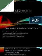Reported Speech 3