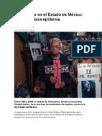 Asesinadas en El Estado de México