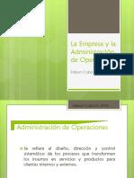 La Empresa y La Administración de Operaciones