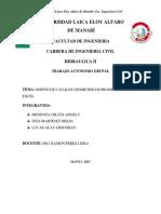Informe Tecnico Canales