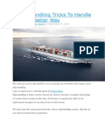 4 Ship Handling Tricks to Handle Ships in Better Way