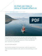 5 Questions That Can Help in Understanding of Squat Effect on Ships
