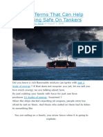 5 Tanker Terms That Can Help You in Being Safe on Tankers