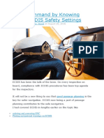 Be in Command by Knowing These ECDIS Safety Settings