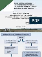AVALUO DE FINCAS (Valoracion de Tierras - Metodo Del Mercado)