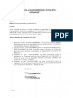 CONVOCATORIA A SESIÓN ORDINARIA N 2 012-2016- OSGyAC/MPT