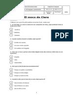 Control de lectura El moco de Clara- junio 1°