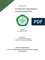 Perbandingan Endoskopi Tympanoplasti Terhadap Mikroskopis Tympanoplasti