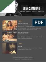Josh Sambono CV 2017