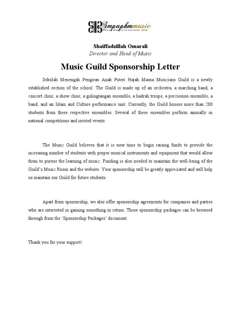 Sponsorship Document | Sponsor (Commercial) | Orchestras