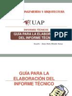 Guia Para La Elaboracion Del Informe Tecnico