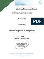 Geometría - Información General de La Asignatura
