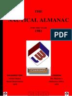 Nautical Almanac 1981 LW
