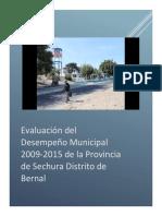 Evaluación Del Desempeño Municipal 2009