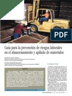 ⭐Guía para la prevención de riesgos laborales en el almacenamiento y apilado de materiales