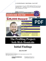Profiling Project Seth Rich Report 06/20/2017