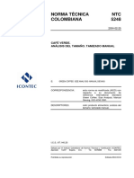 NTC 5248 Café verde. Análisis del tamaño. Tamizado MANUAL y MECÁNICO (ISO 4150 e ISO 3310).pdf