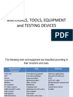 1 (Chs) Materials, Tools, Equipment and Testing Devices
