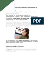 Cómo Imparitr Cursos Online y Convertir Tu Conocimiento en Un Negocio Rentable