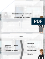 Productor Bienes Nacionales y Certificad