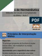 Hermeneutica - Aula 7