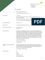 FOS Dispute Lodged 21 June 2017