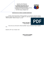 Certification of Cleared Barangays on Drugs (2)