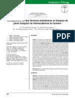 Neuroestimulación en Bloqueo Interescalénico Comparación