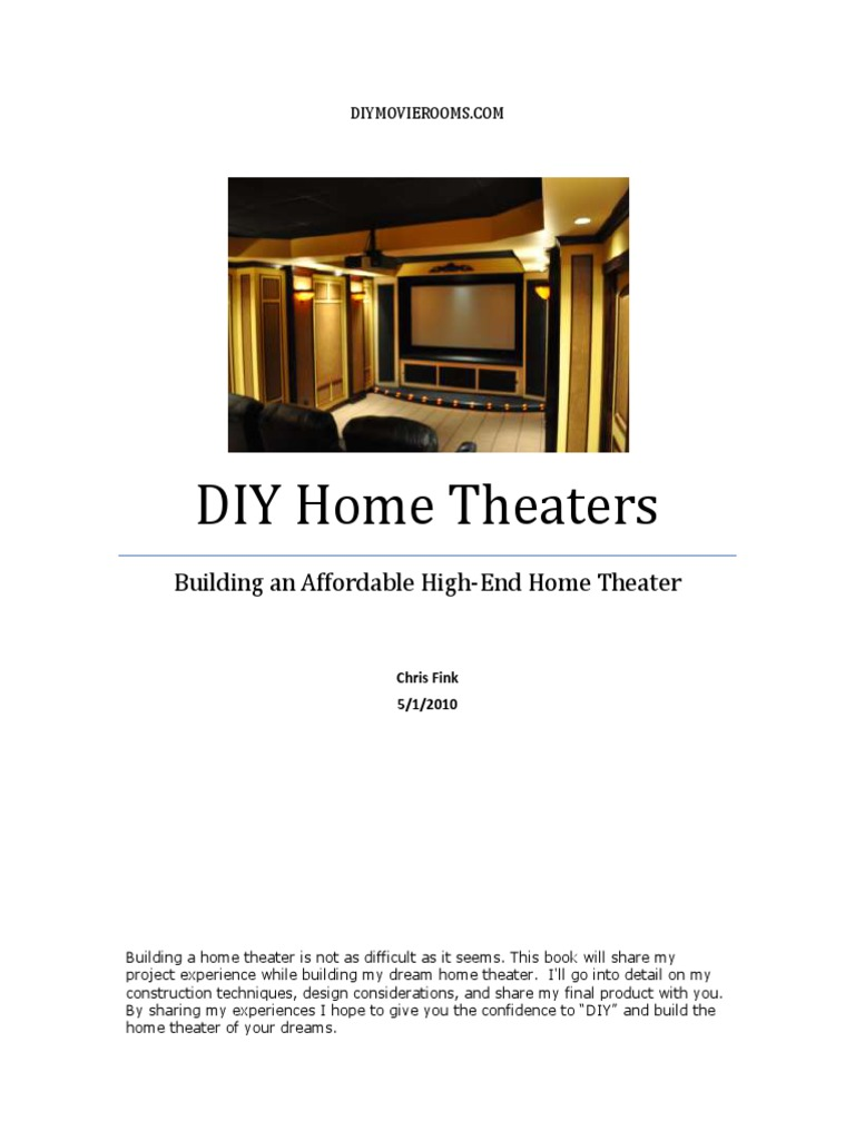 Build An Affordable High End Home Theater Part 1 | Framing (Construction) |  High Definition Television
