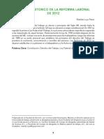 2 Analisis Historico de La Reforma Laboral de 2012