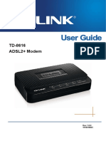 TP-Link TD-8616 V8 User Guide ADSL2 Modem