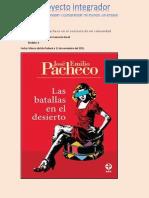 Proyecto-José Emilio Pacheco en El Contexto de Mi Comunidad
