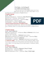IBPS Clerk Prelims 2016 New Pattern