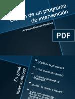 3 Diseño de un programa de intervención