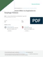 PAPER [ENG] - [Shanahan T., Logemann J., Et Al., 1992 USA] Chin-Down Posture Effect on Aspiration in Dysphagic Patients