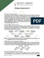 Enlace Químico II - Enlace Puente de Hidrogeno - Dipolo -Dipolo - Pre Escolar Mariscal