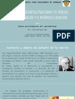 La postura psicogenética Piagetiana y el vínculo entre el aprendizaje y el desarrollo cognitivo.pptx