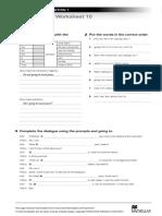 NI1 Grammar Worksheet 10 Going To