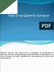 Role of an Quantity Surveyor