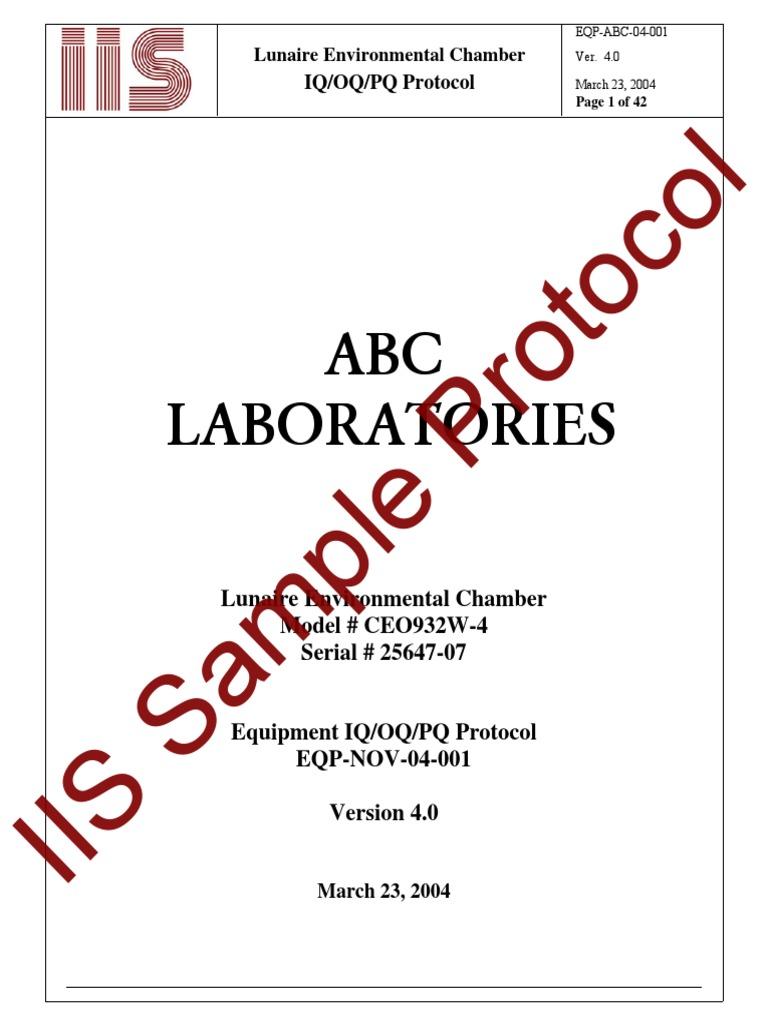 Iqoqpqprotocolsamplepdf Verification And Validation Systems