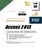 Lab04 2013 Consultas de Selección