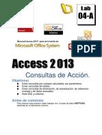 Lab04-A 2013 Consultas de Acción