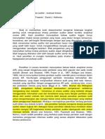 Penilaian Tinjauan Analitis Auditor