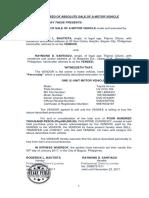 2. Absolute Deed of Sale of Motor Vehicle