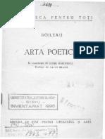 Boileau- Arta Poetica
