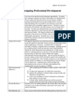 steps in designing professional development